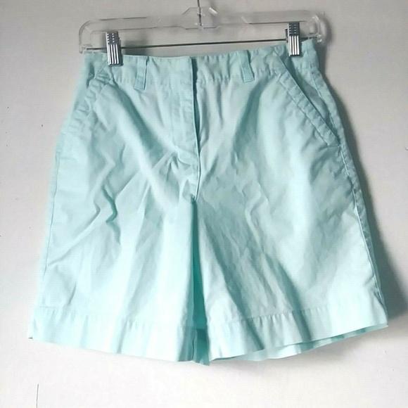 Talbots Pants - Talbots Women's 4 Bermuda Shorts Mint Blue Stretch